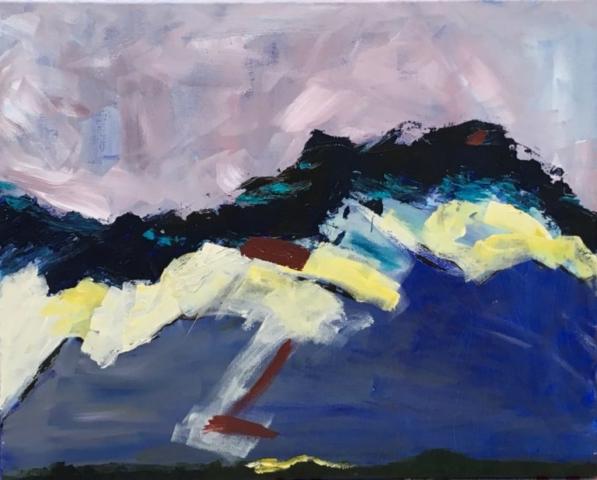 """Jonathan Livingston Seagull"" - acrylic on canvas - SOLD"