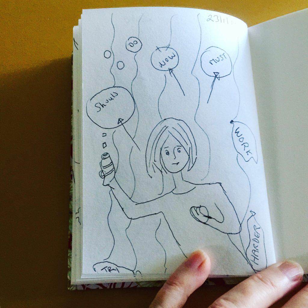 Morning drawing before social media
