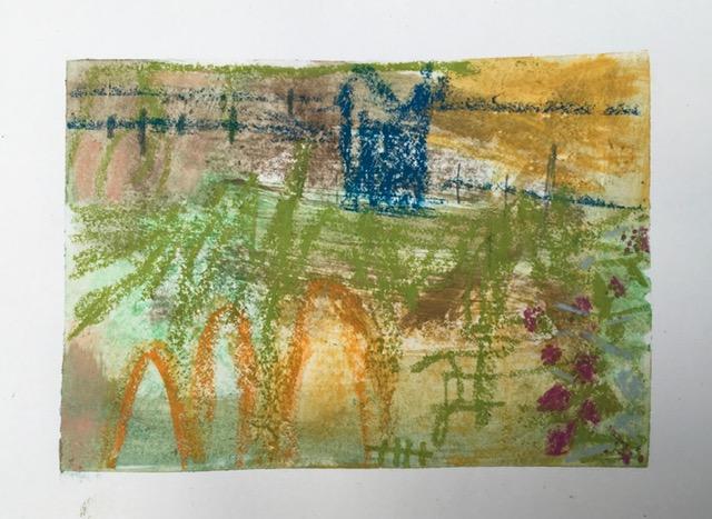 painting of summer garden