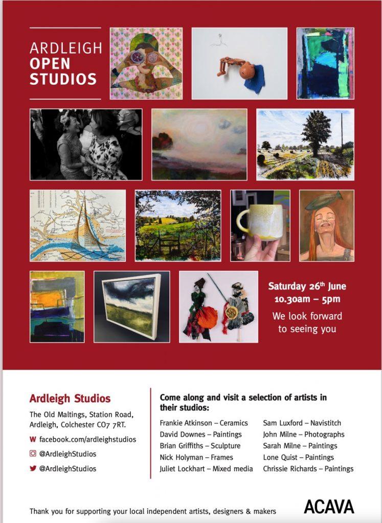 poster for Ardleigh Open Studios